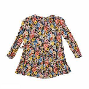Zara Floral Ruffle Detail Dress